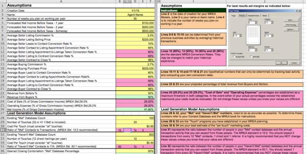 Keller Williams Business Plan Spreadsheet For The Millionaire Real Estate Agent 4 Models Spreadsheet
