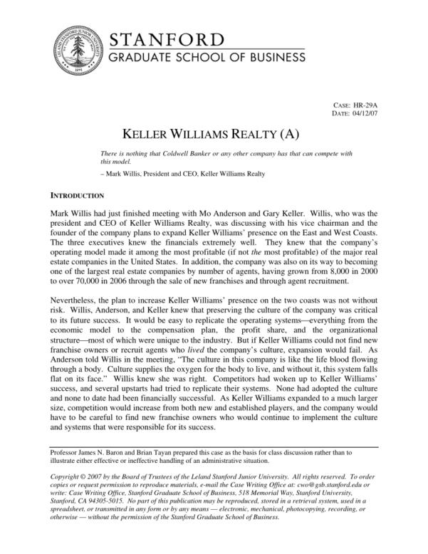 Keller Williams Business Plan Spreadsheet Pertaining To Pdf Keller Williams Realty A