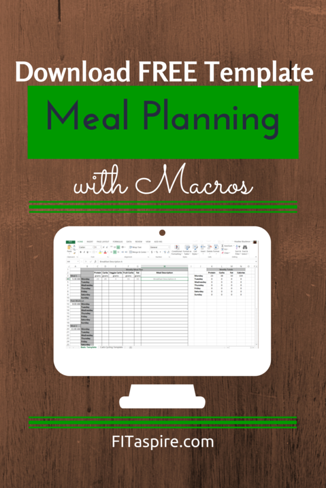 Keto Food Spreadsheet Within Meal Planning With Macros  Free Template  Fitaspire