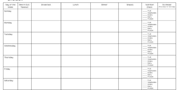 Keto Meal Plan Spreadsheet Inside Meal Planning Worksheets  Rent.interpretomics.co