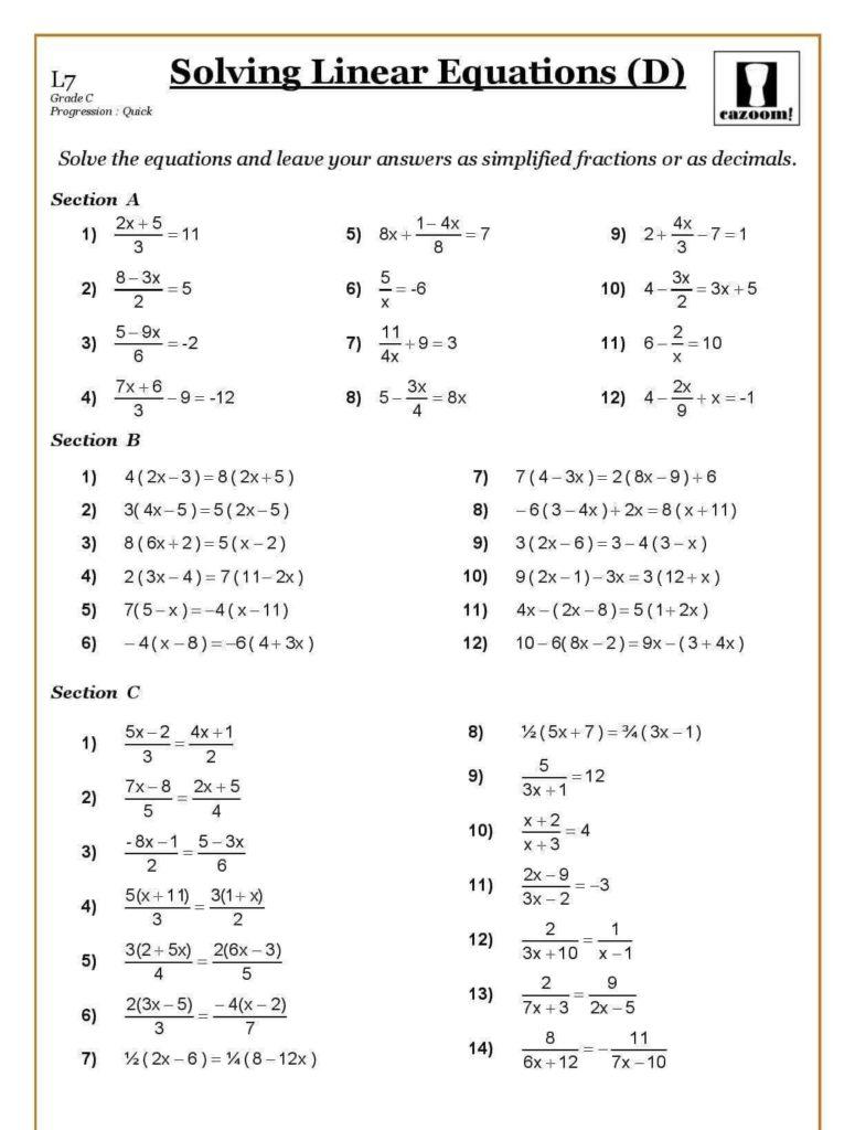 Ks3 Spreadsheet Worksheets Regarding Free Ks3 Maths Worksheets  Tagua Spreadsheet Sample Collection