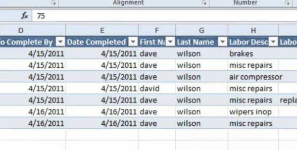Labor Tracking Spreadsheet With Regard To Tatems Maintenance Software Spreadsheet  Labor Work Orders