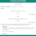 Land Contract Payment Spreadsheet Pertaining To Land Contract Forms  Free Contract For Deed Form Us  Lawdepot