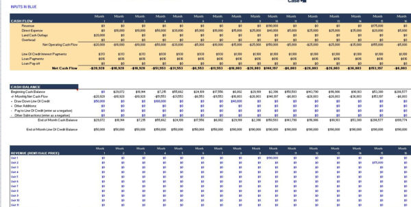 Land Development Cost Spreadsheet Inside Real Estate Proformas Casebuilder/templates Business Case