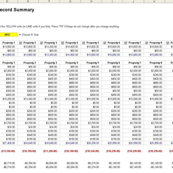 Landlord Expenses Spreadsheet For Landlord Expenses Spreadsheet  Laobingkaisuo In Rental Property
