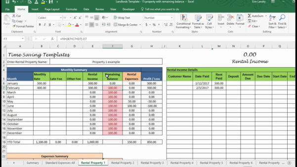 Landlord Expenses Spreadsheet In Landlord Expenses Spreadsheet – Theomega.ca
