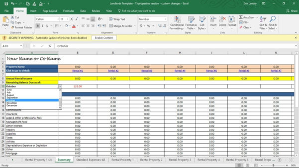 Landlord Expenses Spreadsheet Pertaining To Landlord Accounting Spreadsheet Rental Property Income And Expenses