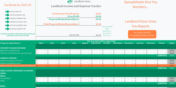 Landlord Self Assessment Spreadsheet Inside Free Rental Income And Expense Tracking Spreadsheet Download Page
