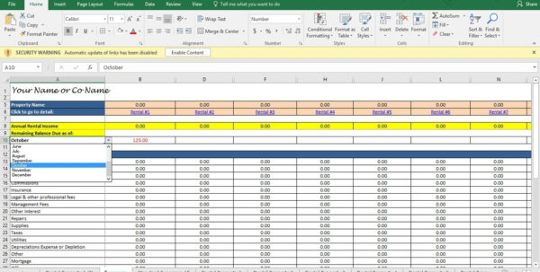 Landlord Spreadsheet Regarding Landlord Accounting Spreadsheet Investment Property Analysis