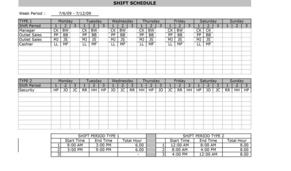 Landscaping Spreadsheet Regarding Document Template Employee Shift Scheduling Spreadsheet Excel For