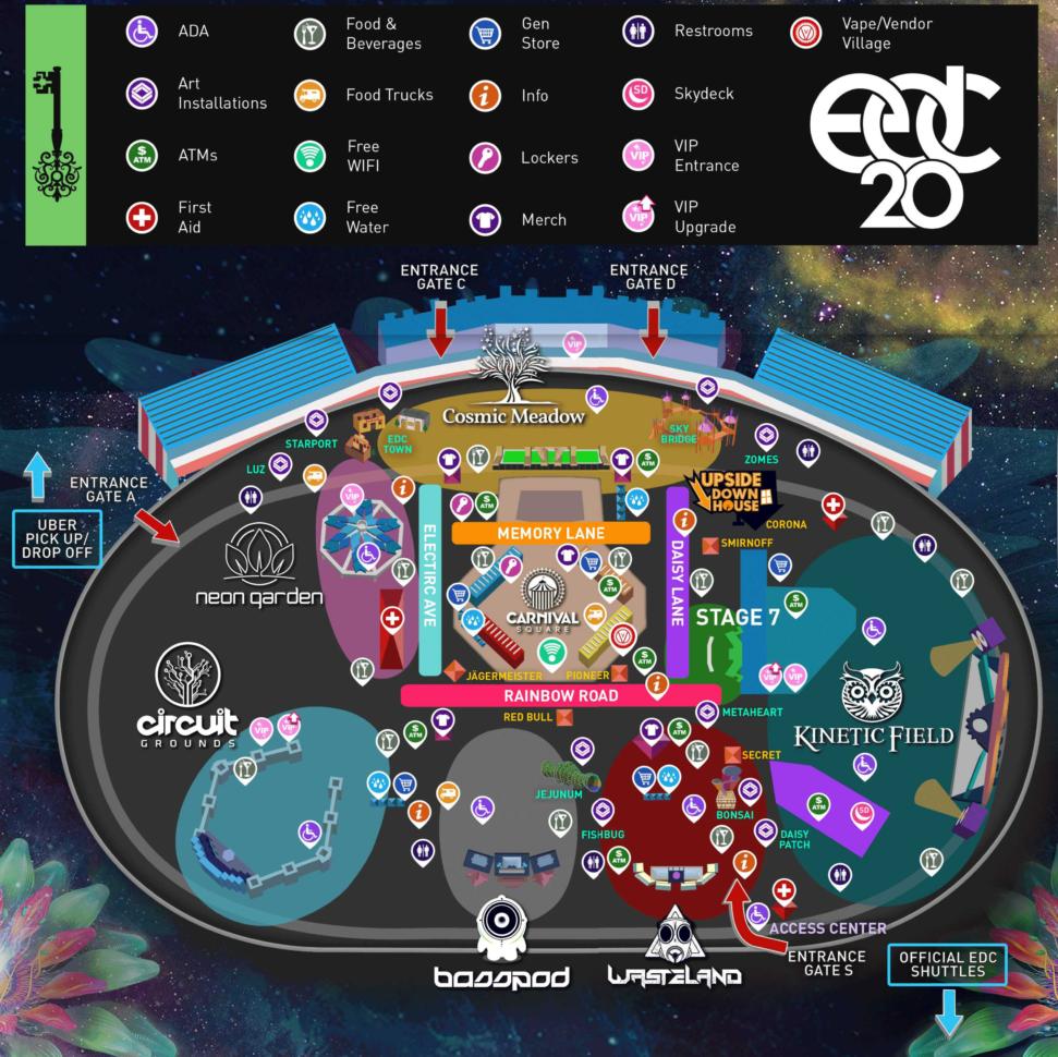 Las Vegas Spreadsheet Inside Edc Las Vegas 2016  The Essentials  Edm Identity