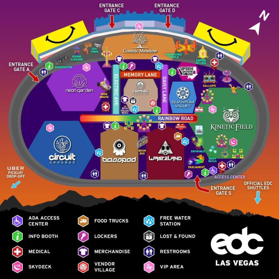 Las Vegas Spreadsheet Throughout Edc Las Vegas 2017 Set Times Announced  Discotech  The #1