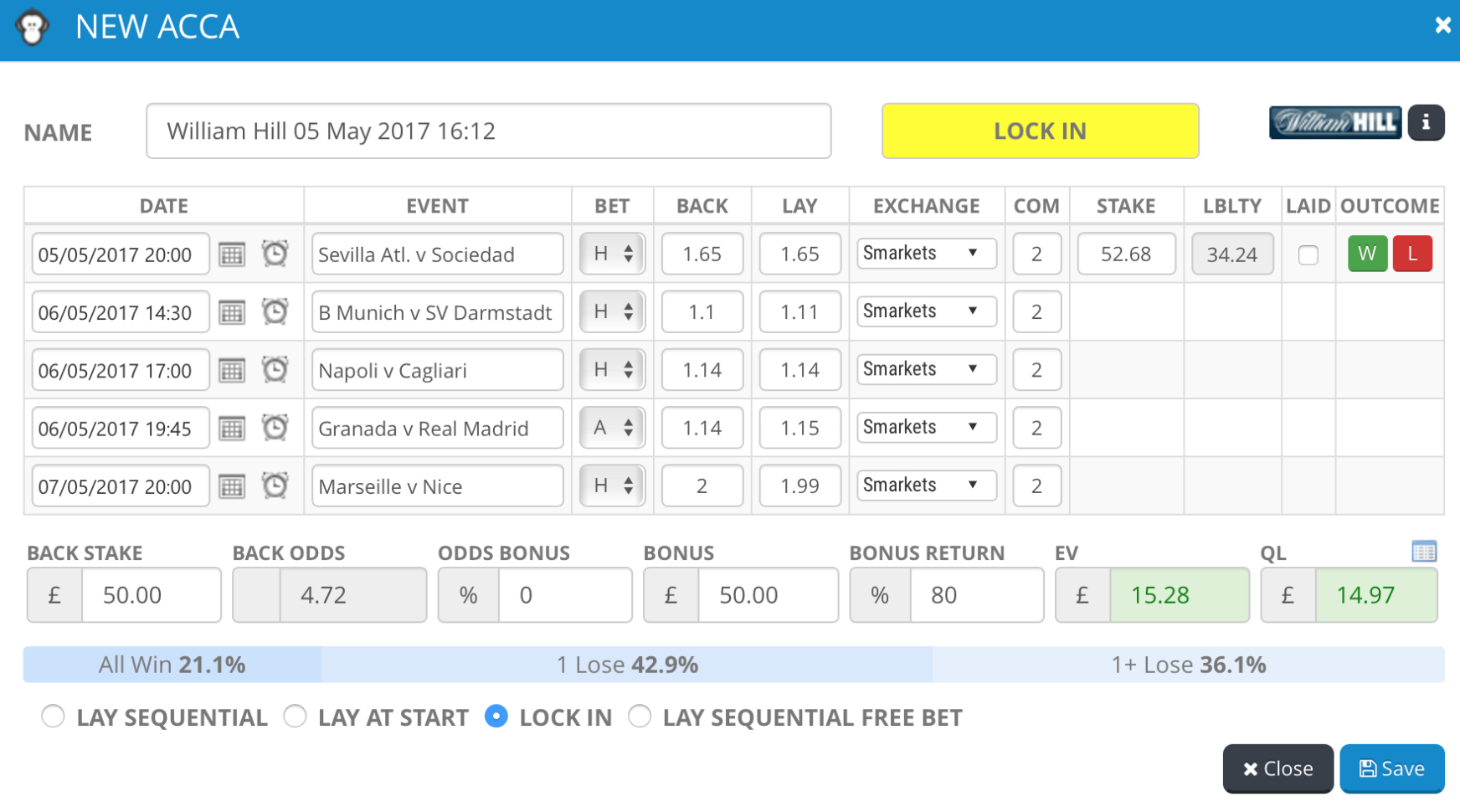 Lay Accumulator Spreadsheet Pertaining To Oddsmonkey  2018 Review  The Best Matched Betting Service