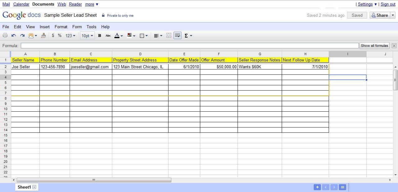 Lead Spreadsheet For Lead Tracking Spreadsheet  Pulpedagogen Spreadsheet Template Docs