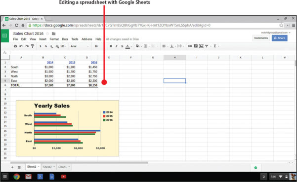 Learn Google Spreadsheet Pertaining To 16. Spreadsheets With Google Sheets  My Google Chromebook, Third