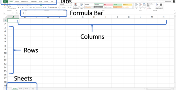 Learning To Use Excel Spreadsheets In Learning Excel Spreadsheets Invoice Template How To Learn Microsoft