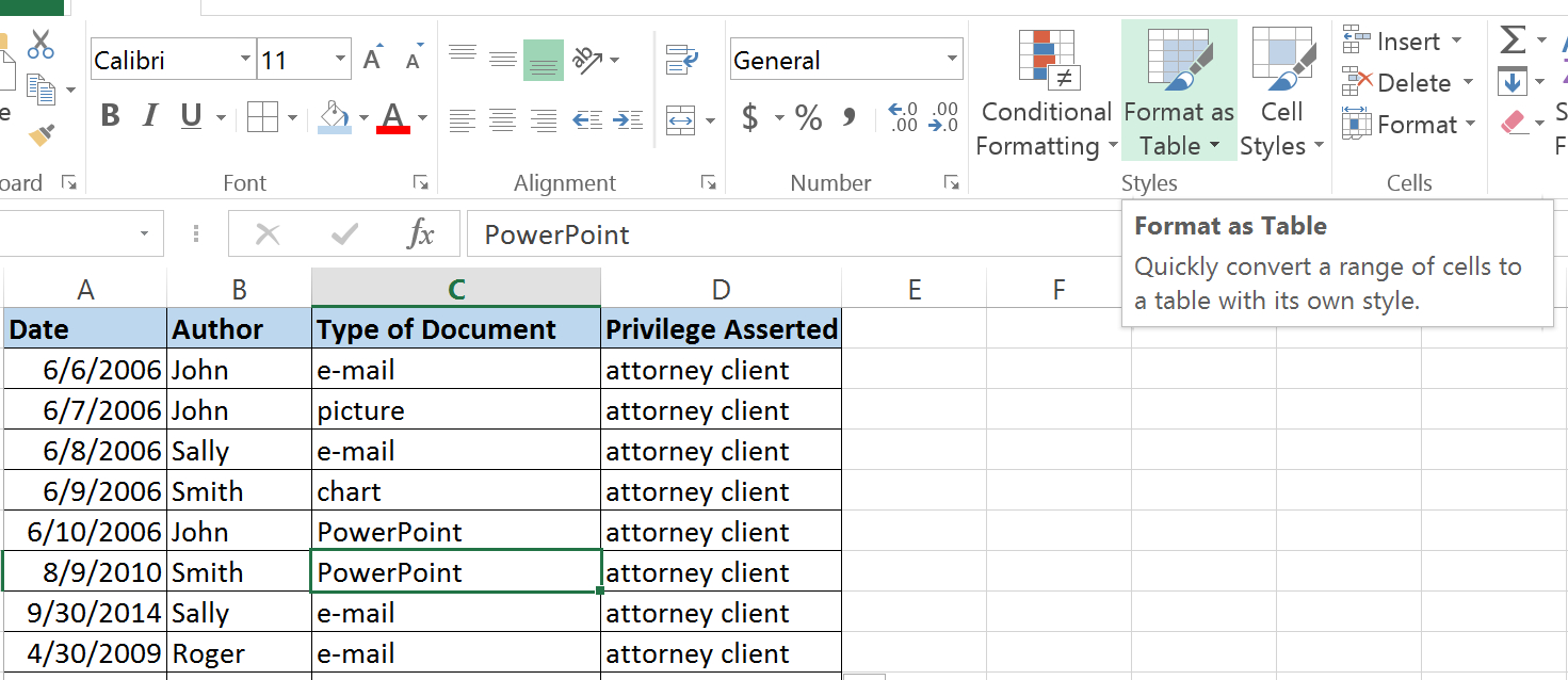 Legal Case Management Excel Spreadsheet Pertaining To Why Excel Is The Most Underappreciated Program In Your Law Office