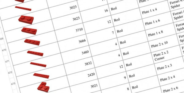 Lego Inventory Spreadsheet Regarding How To Create A Needed Lego Parts List  The Family Brick