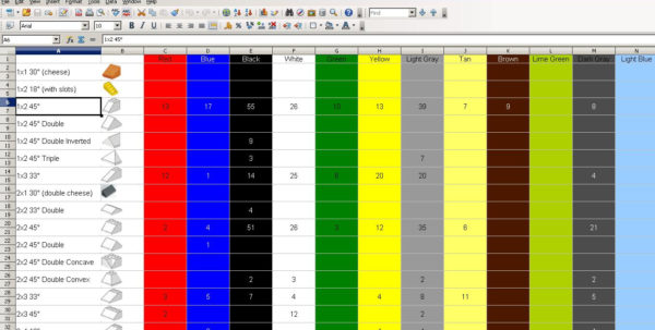 Lego Parts Inventory Spreadsheet For Storage And Sorting Lego  Page 33  General Lego Discussion
