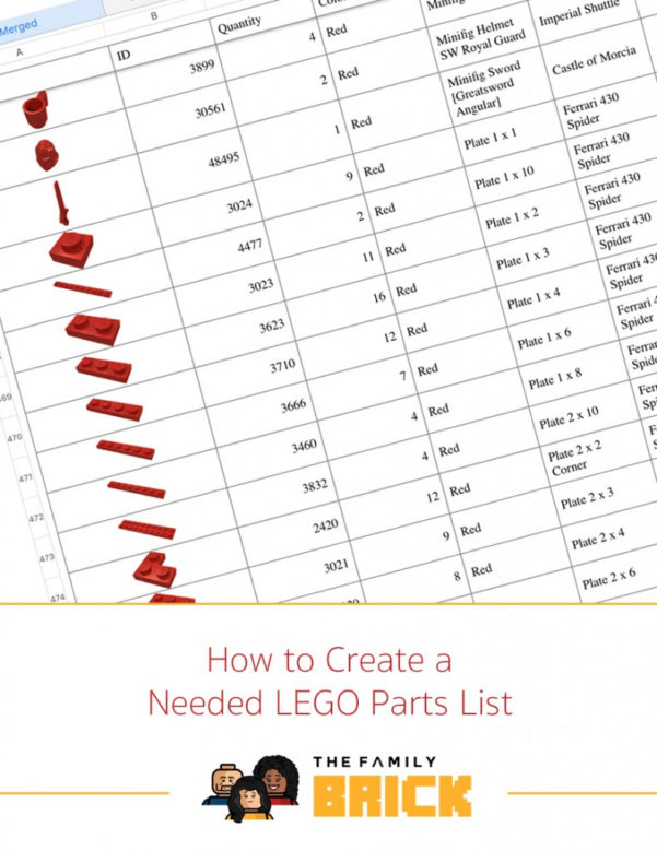 Lego Parts Inventory Spreadsheet Regarding How To Create A Needed Lego Parts List  The Family Brick