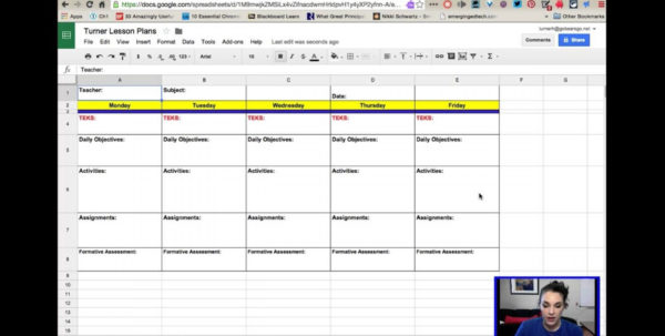 Lesson Plan Template Excel Spreadsheet In 021 Owner Operator Excel Spreadsheet Fresh Beautiful Weekly Lesson