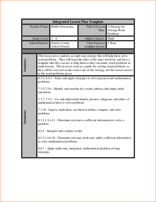 Lesson Plan Template Excel Spreadsheet Regarding Lesson Plan Template Excel Spreadsheet – Spreadsheet Collections