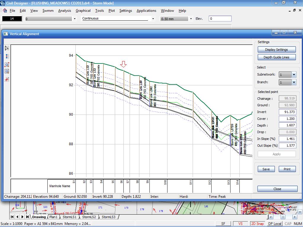 Levelling Spreadsheet Surveying In Civil Designer  Survey And Terrain