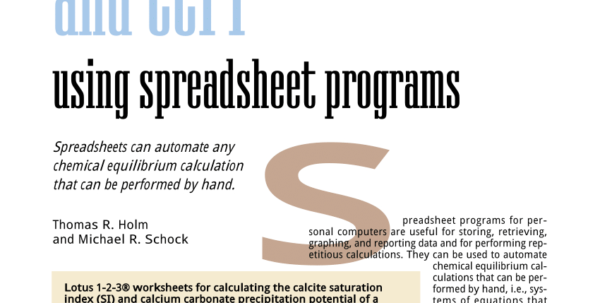 Lime Softening Calculation Spreadsheet Inside Pdf Computing Si And Ccpp Using Spreadsheet Programs