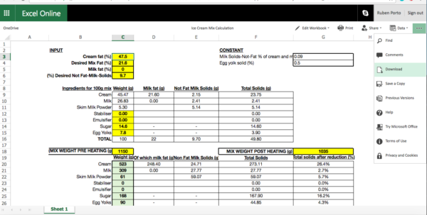 Lime Softening Calculation Spreadsheet Regarding How To Calculate An Ice Cream Mix