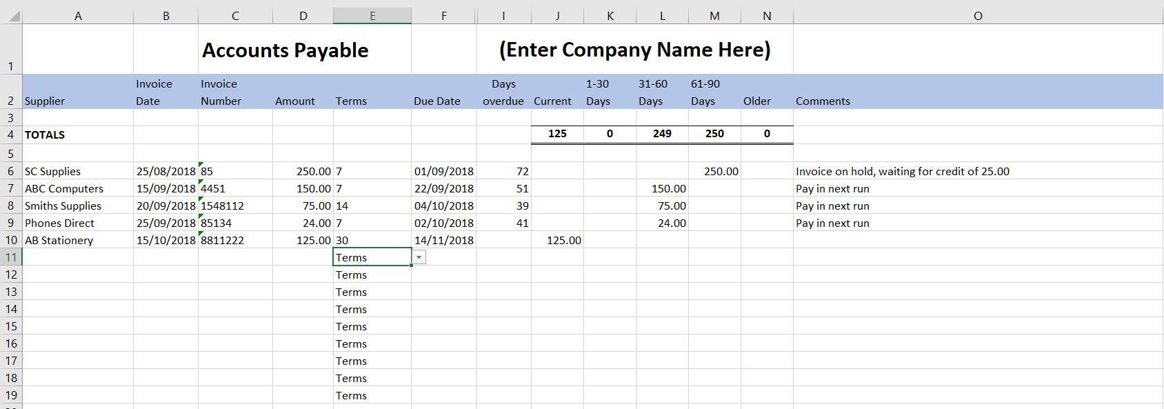 Limited Company Accounts Spreadsheet In Free Excel Bookkeeping Templates  10 Excel Templates