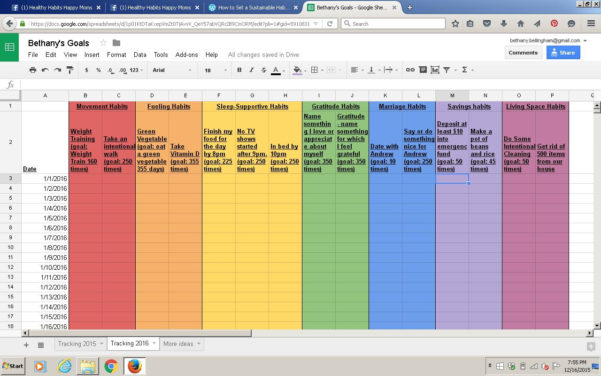 Line Of Credit Tracking Spreadsheet With The Rainbow Spreadsheet! Habit Tracking Template  Power, Peace