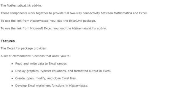 Link Excel Spreadsheets Intended For Mathematica Link For Excel Pdf