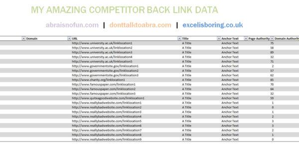 Link Excel Spreadsheets Regarding Link Building Tips  Using Excel For Link Building