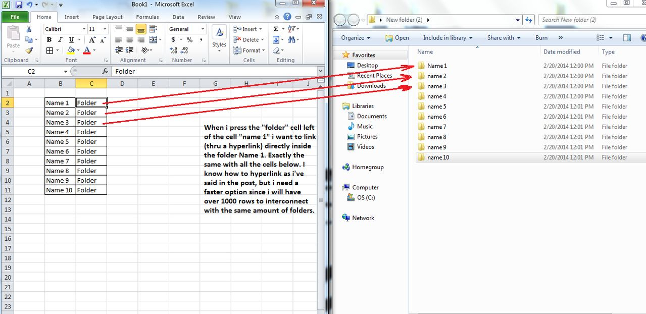 Linking Excel Spreadsheets With Regard To Windows 7  Excel 2010  How To Quickly Add Multiple Hyperlinks To