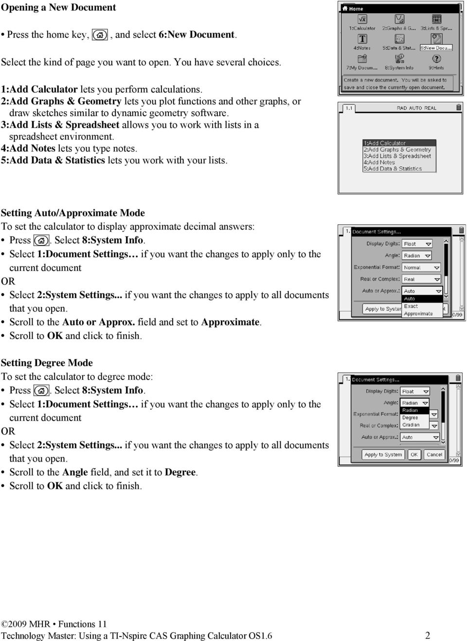 Lists And Spreadsheets Calculator Pertaining To Tinspire Cas Graphing Calculator  Pdf