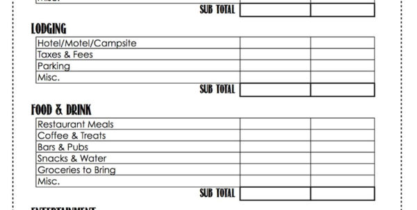 Living Budget Spreadsheet For Budget Worksheet Examples Free Printable Monthly Personal