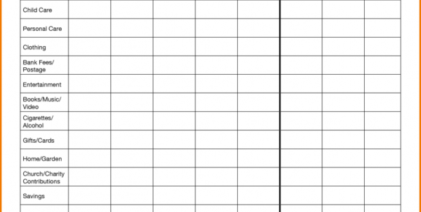 Living Expenses Spreadsheet Inside List Of Monthly Expenses Template Living Spreadsheet Luxury Design