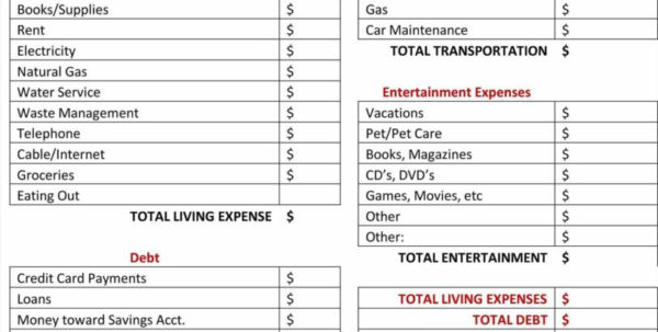 Living Expenses Spreadsheet With Regard To Water Bill Template And Monthly Monthly Expense Spreadsheet Bill