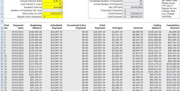 Loan Amortization Spreadsheet Excel Throughout Free Mortgage Home Loan Amortization Calculator
