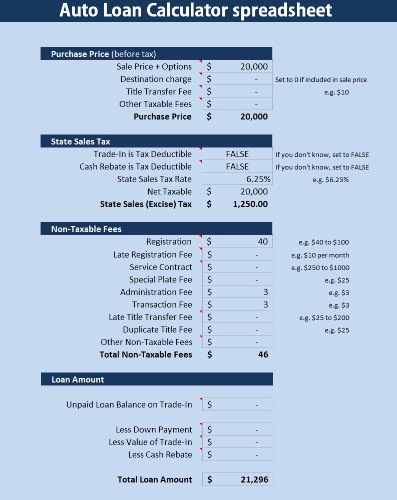 Loan Calculator Spreadsheet With Home Loan Calculator Spreadsheet  My Mortgage Home Loan