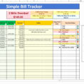 Loan Payment Spreadsheet Pertaining To Bill Pay Spreadsheet Excel Best Of To Track Loan Payments Examples