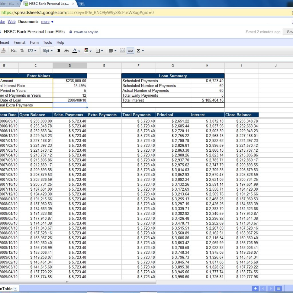 Loan Spreadsheet Template Regarding Loan Payment Spreadsheet Template  Spreadsheets For Home Loan