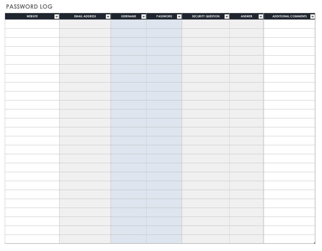 Log Book Auditing Spreadsheet With Regard To Free Task And Checklist Templates  Smartsheet