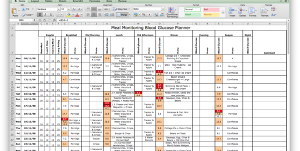 Log Book Spreadsheet Intended For My Diabetic Log Book – Type 1 Astronomer
