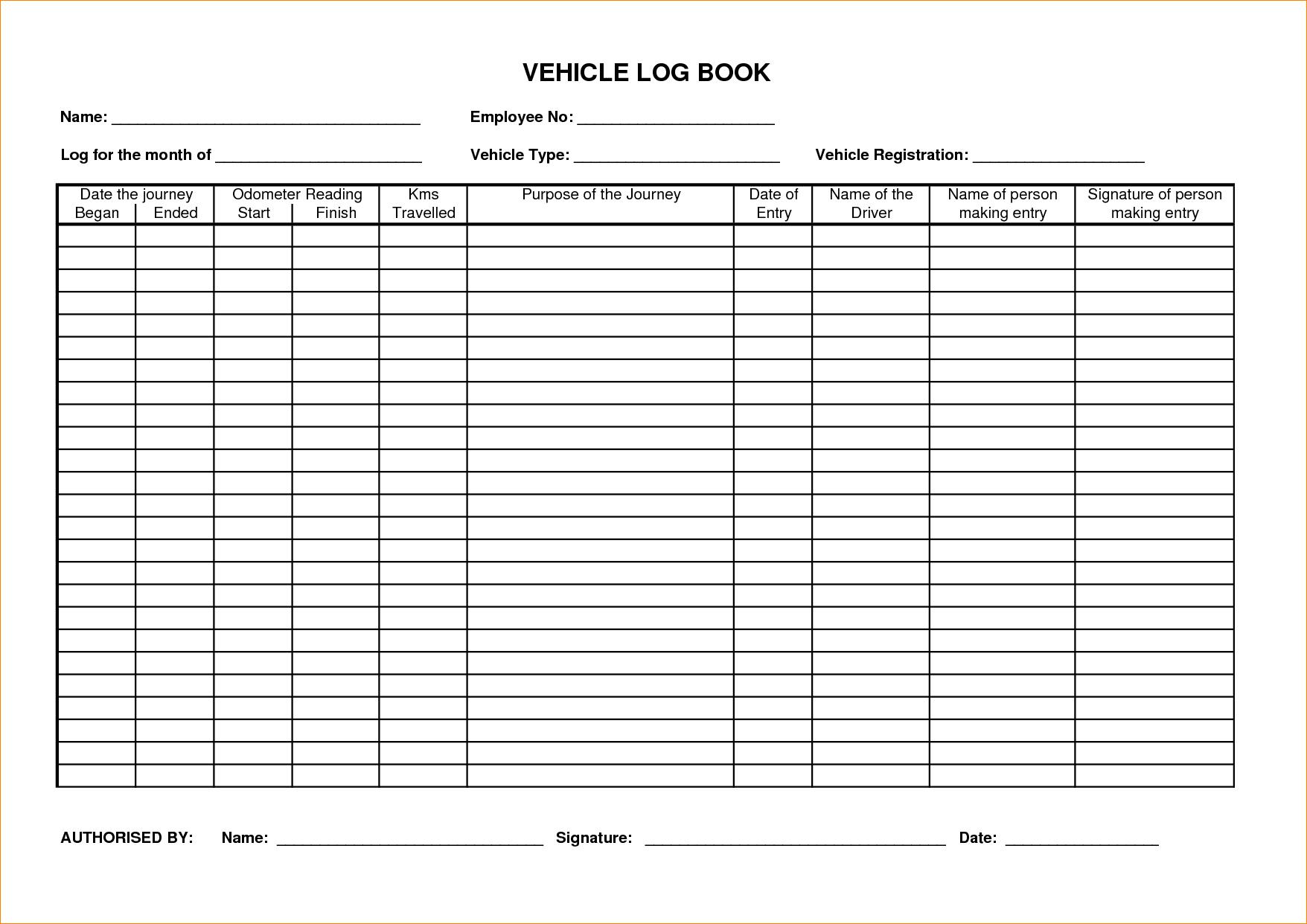 log book spreadsheet with sample vehicle log sheet kasare