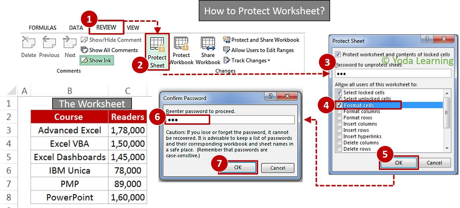 Lost Password Excel Spreadsheet Regarding Learn How To Lock Cells In Excel  How To Create Password Protect Excel?