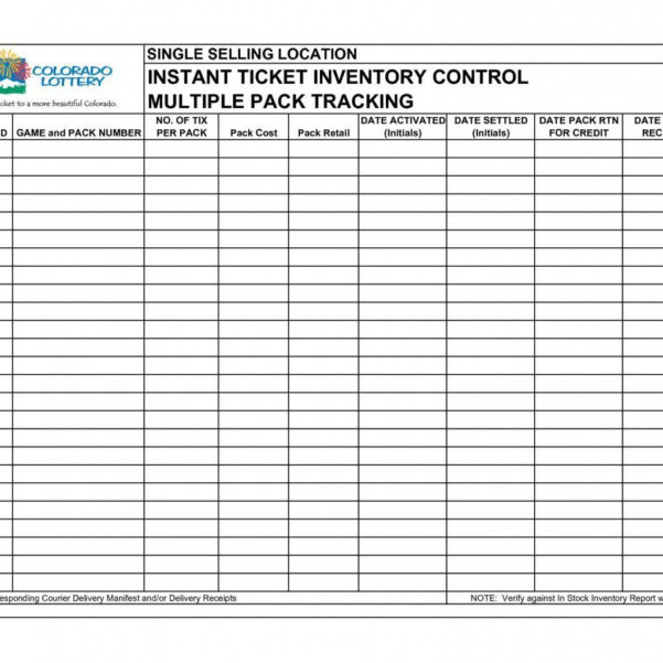 Lottery Inventory Spreadsheet For Stock Inventory Sheet  La Portalen Document Spreadsheet Template