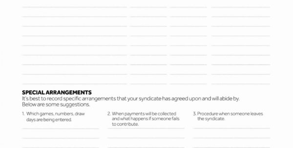 Lottery Pool Spreadsheet With Lottery Agreement Template  Lostranquillos