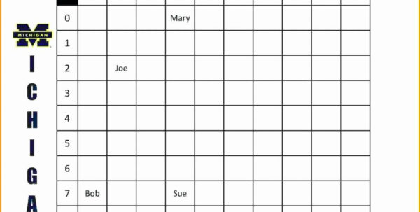 Lottery Spreadsheet Template For Weekly Football Pool Spreadsheet Lottery Template New Excel 2018