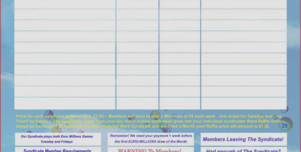 Lottery Syndicate Spreadsheet Download With Lottery Agreement Template  Lostranquillos